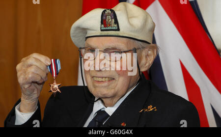 Artic Star medal presentations - Stock Photo