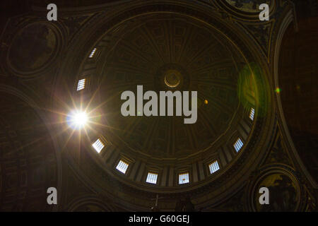Dome in Saint Peters Basilica - Stock Photo