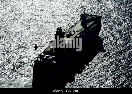 Norsea ferry fire - Stock Photo