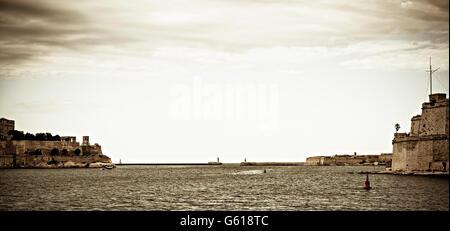 Grand harbour, Malta - Stock Photo
