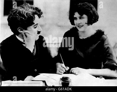 Charlie Chaplin and Miss Lita Grey - Stock Photo