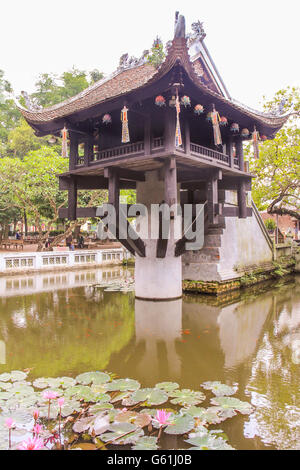 One Pillar Pagoda in Hanoi Vietnam - Stock Photo