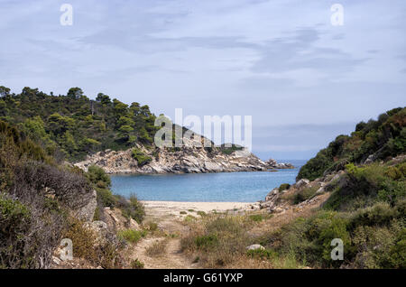 Beautiful nature in Sithonia, Chalkidiki, Greece - Stock Photo