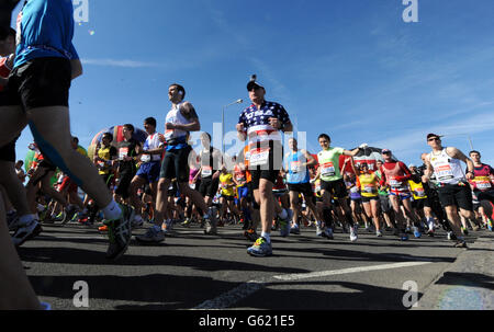 Athletics - 2013 Virgin London Marathon - London - Stock Photo