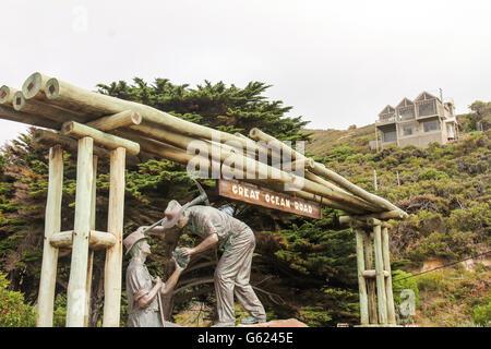 Great Ocean Road sign - Stock Photo