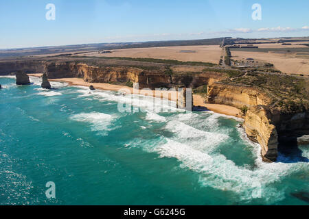 Twelve Apostles near Melbourne Australia - Stock Photo