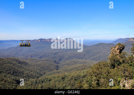 Cable car in Blue mountains national park near Sydney Australia - Stock Photo