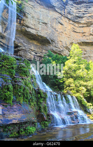 Wentworth falls in Blue Mountains Australia - Stock Photo