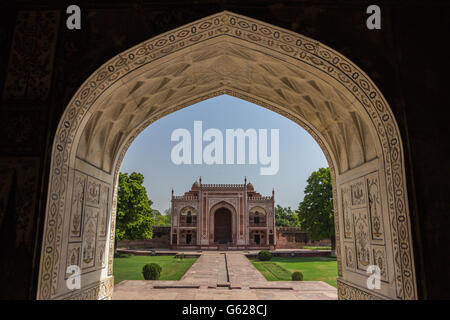Gate in Baby Taj in Agra india - Stock Photo
