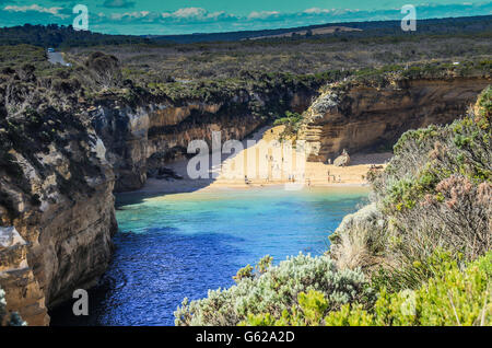 Loch Ard Gorge in Victoria Australia - Stock Photo