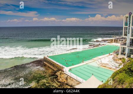 Swimming pool in Bondi Beach Sydney Australia - Stock Photo