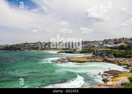 Rocky Bronte beach in Sydney australia - Stock Photo