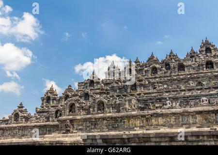 Borobudur temple in Indonesia - Stock Photo