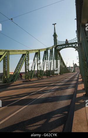 Liberty Bridge in Budapest Hungary - Stock Photo