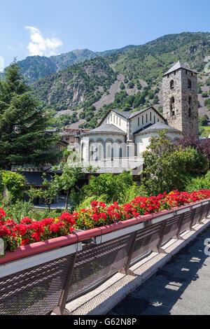 Historic town of Andorra La Vella, capital of Andorra. - Stock Photo