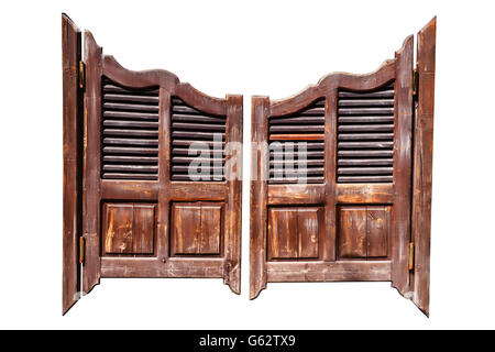 Old rough wooden saloon doors isolated on white with clipping path - Stock  Photo - Old Western Swinging Saloon Doors Icon Stock Vector Art