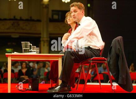 Labour Conference - Alan Milburn - Stock Photo