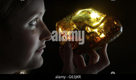 Amber Exhibition in Edinburgh - Stock Photo