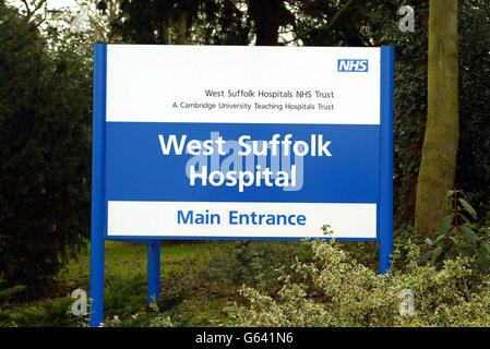 Hindley West Suffolk Hospital - Stock Photo