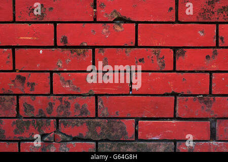 Old Red Brick Wall Texture Background - Stock Photo