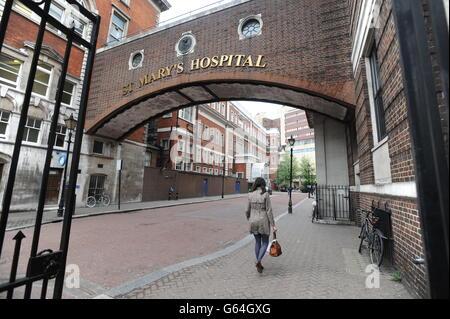 St Mary's Hospital - London - stock - Stock Photo