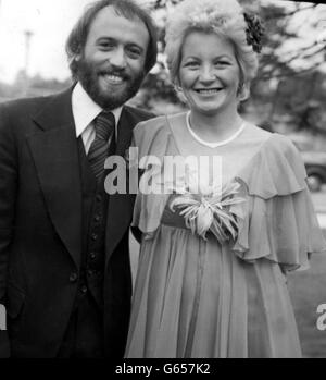 The Bee Gees Maurice Gibb With Singer Lulu Stock Photo Royalty Free Image 69440666