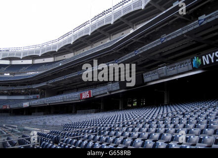 A general view of seating at the Yankee Stadium in New York, USA. PRESS ASSOCIATION Photo. Picture date: Monday May 20, 2013. Photo credit should read: Andy Hampson/PA Wire.