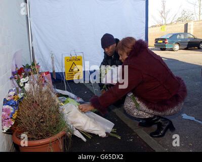 Birmingham Shooting Murder Scene - Stock Photo
