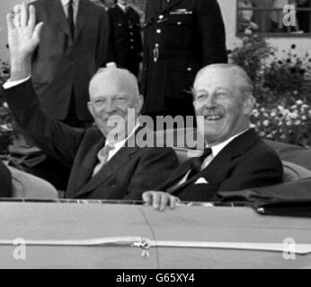 Eisenhower and Macmillan - Stock Photo