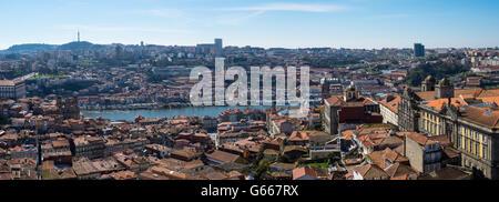 Panoramic view, Porto, Portugal - Stock Photo