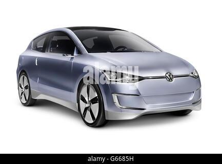 2010 Volkswagen Up! Lite Concept hybrid diesel fuel efficient city car - Stock Photo