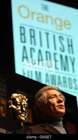 MCKELLEN - BAFTA NOMINATIONS - Stock Photo