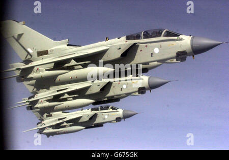 Tornado Aircraft Refuelling - Stock Photo