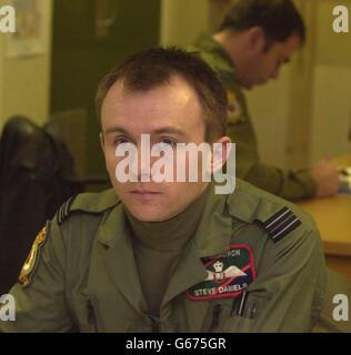 STEVE DANIELS - RAF PILOT - Stock Photo