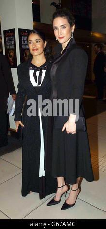 ORANGE BAFTAS Hayek and Connelly - Stock Photo