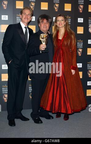 ORANGE BAFTAS Almodovar,Modine & McElhone - Stock Photo