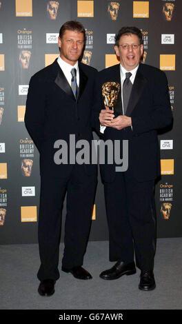 ORANGE BAFTAS Sean Bean & Phillip Glass - Stock Photo