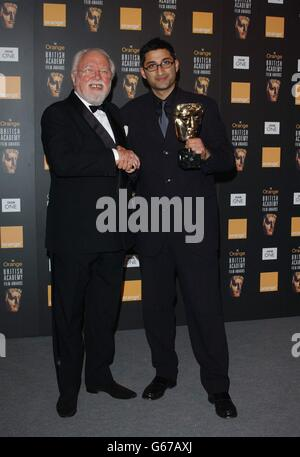 ORANGE BAFTAS Attenborough Kapadia - Stock Photo