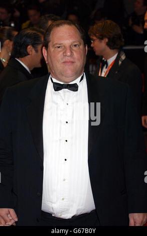 ORANGE BAFTAS Harvey Weinstein - Stock Photo