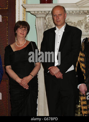 The City of London's Dinner to Her Majesty's Judges - Stock Photo
