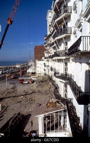 British Crime - Terrorism - IRA Mainland Bombing Campaign - Brighton - 1984 - Stock Photo