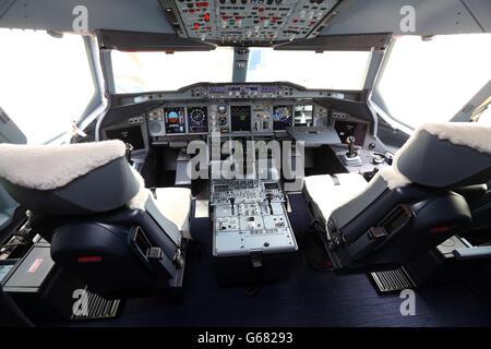 British Airways liveried Airbus A380 - Stock Photo