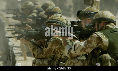 British Forces in Kuwait - Stock Photo