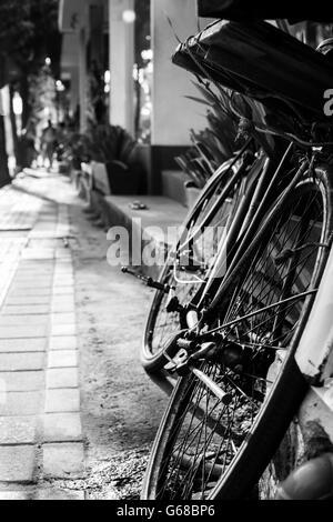 Ubud, Indonesia - September 5: A typical street scene in Ubud, Bali, Indonesia - Stock Photo