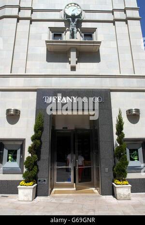 Tiffany & Co boutique - LA - Stock Photo