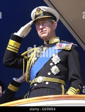 Prince Charles - Naval college officers - Stock Photo