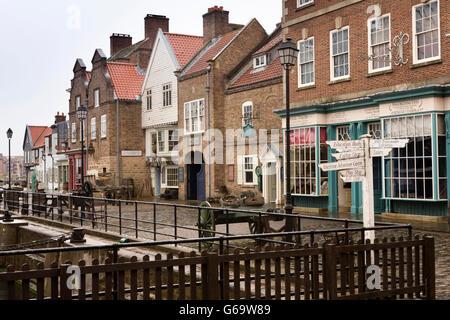 UK, England, County Durham, Hartlepool Maritime Experience, Quayside buildings - Stock Photo