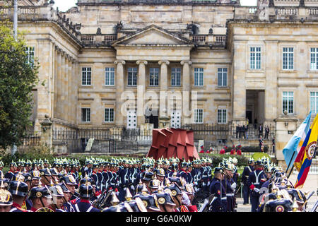 Marching band in a president house of Colombia - Stock Photo