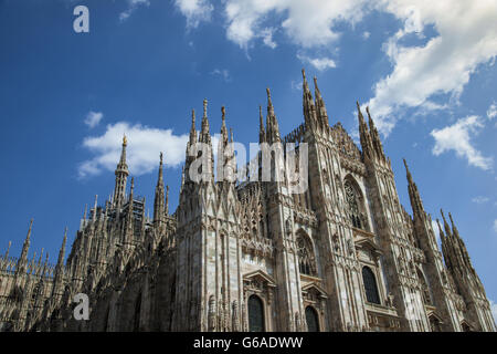 Duomo di milano, Milan Cathedral, symbol of the Lombardy and throughout Italy - Stock Photo