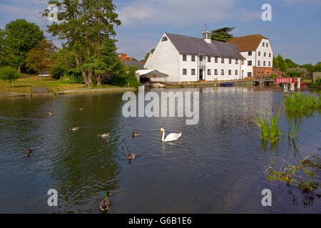 Hambleden Mill on the Thames Near Henley Oxfordshire - Stock Photo